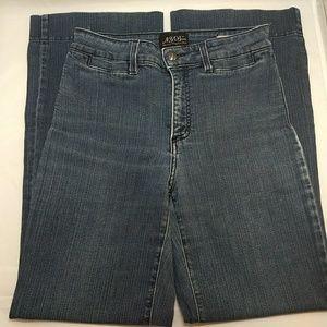 NYDJ Women's Blue Wide Leg Denim Jeans Size 8P